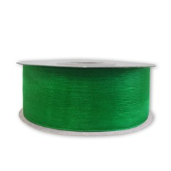 Лента Органза Зеленый / 25мм*22,85м