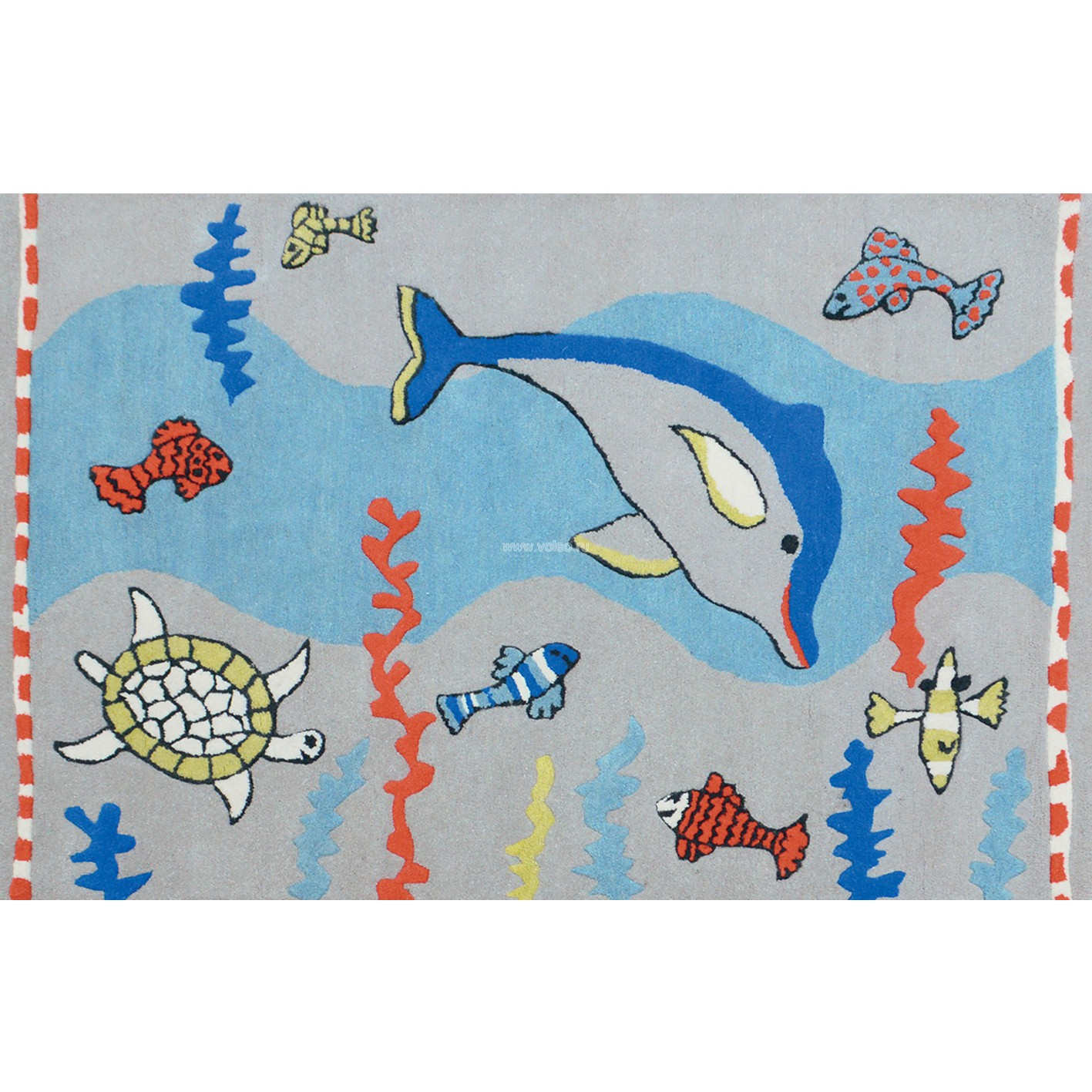 Ковер Designers Guild Kids Rugs Whale Of A Time Cobalt RUGDGK0001, интернет магазин Волео