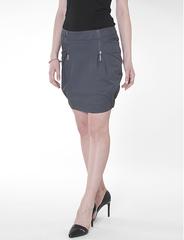 5158 юбка темно-серая
