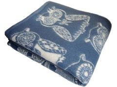 Одеяло Совы из новеландской шерсти   KLIPPAN SAULE Латвия