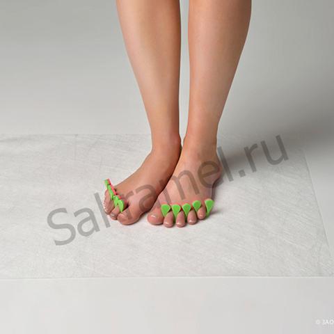 Разделители для пальцев Розовый/Салатовый (20 пар) Пенополиэтилен 8 мм