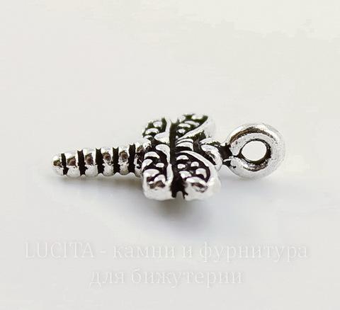 "Подвеска TierraCast ""Стрекоза"" (цвет-античное серебро) 15х12 мм"