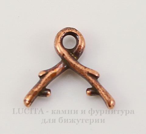 """Держатель для кулона TierraCast """"Briolette"""" маленький (цвет-античная медь) 11х9 мм"""