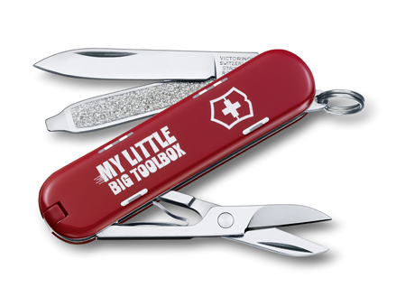 "Нож-брелок Victorinox Classic LE 2014, 58 мм, 7 функ, ""My little big toolbox""  (0.6223.L1404)"