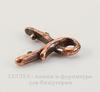 """Держатель для кулона TierraCast """"Briolette"""" маленький 11х9 мм (цвет-античная медь)"""