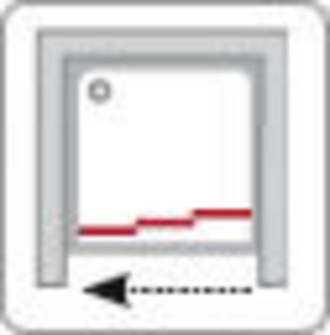 Ravak Supernova ASDP3-100 Grape душевая дверь раздвижная, 3-х элементная (00VA0102ZG)