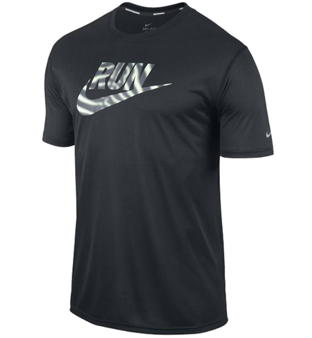 Футболка Nike Run Swoosh Tee чёрная