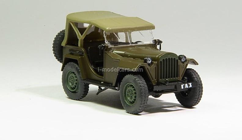 GAZ-67B khaki 1:43 DeAgostini Auto Legends USSR #30