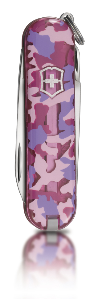 "Нож-брелок Victorinox Classic LE 2010, 58 мм, 7 функ, ""Pink Army""  (0.6223.L1007)"