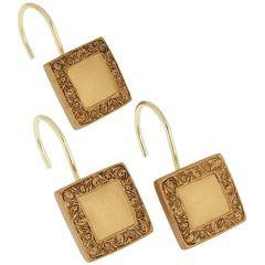 Набор из 12 крючков для шторки Lakewood Gold от Carnation Home Fashions