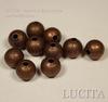 """Бусина """"Сахарный шарик"""" 8 мм (цвет - античная медь), 10 штук ()"""