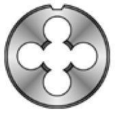 Плашка HSSE М8 шаг 1,25 мм D25мм Bucovice