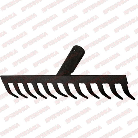 Грабли 12-зубые прямые 320 мм Сибртех