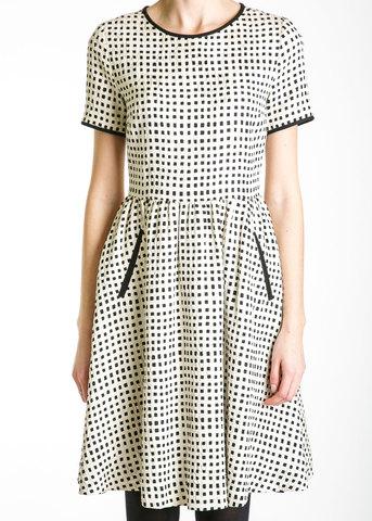Платье из шелка и шерсти JASON WU
