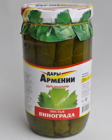 Листья виноградные Дары Армении, 720г