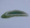Подвеска Срез Агата (цвет - зеленый) 80х40х4,6 мм №13