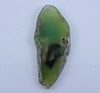Подвеска Срез Агата (цвет - зеленый) 61х27х5 мм №15