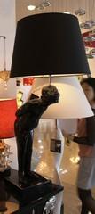 лампа Lovely China Man ( черный) H 85 cм.