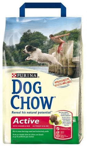 Dog Chow Для активных собак c курицей (adult Active) 2,5 кг