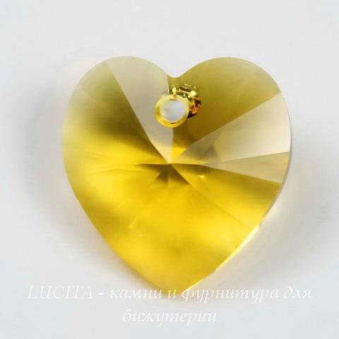 6202/6228 Подвеска Сваровски Сердечко Sunflower (10,3х10 мм)