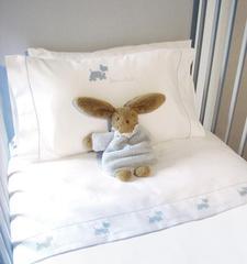 Детское постельное белье Bovi Собачки New голубое