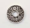 "Коннектор TierraCast ""Монета"" (1-3) 18 мм (цвет-античное серебро)"