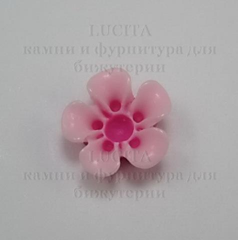 Кабошон акриловый розовый 13х6 мм