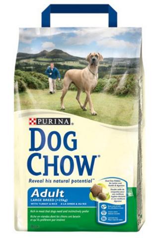 Dog Chow Для взрослых собак крупных пород с индейкой (adult Large Breed) 2,5 кг