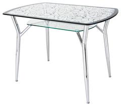 Столы стеклянные с рисунком для кухни