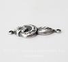 Винтажный декоративный элемент - коннектор (1-1) 24х10 мм (оксид серебра)