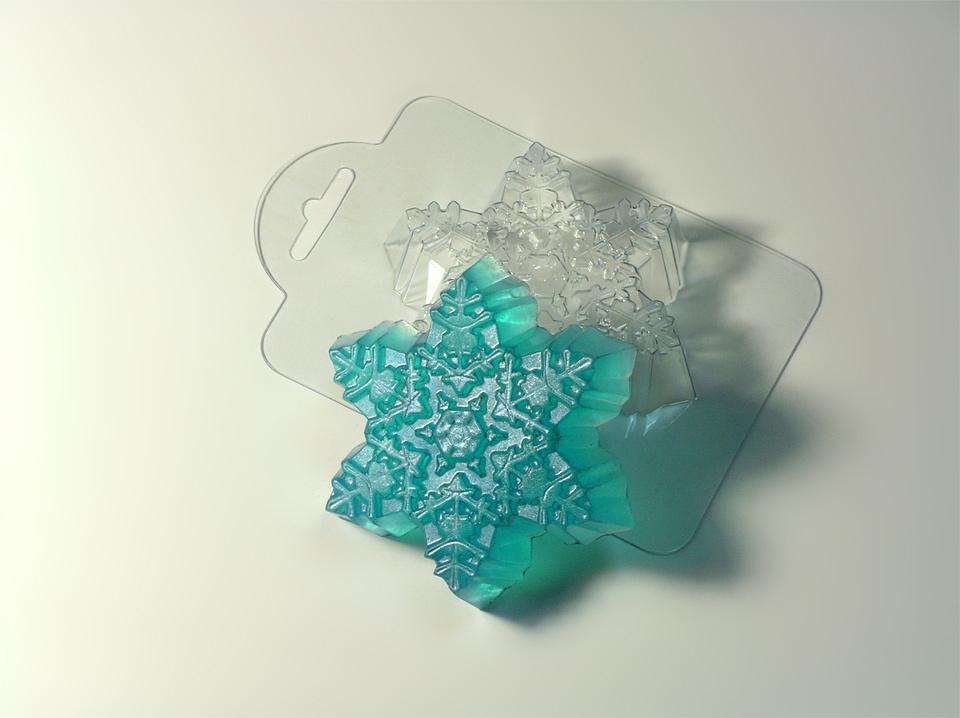 Морозная снежинка Форма для мыла