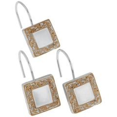 Набор из 12 крючков для шторки Lakewood Silver от Carnation Home Fashions