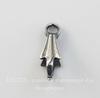 Винтажный декоративный элемент - держатель для кулона 10 мм (оксид серебра)