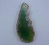 Подвеска Срез Агата (цвет - зеленый) 80х34х5,2 мм №28