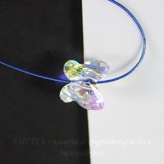 5754 Бусина в виде бабочки Сваровски Crystal AB 8 мм