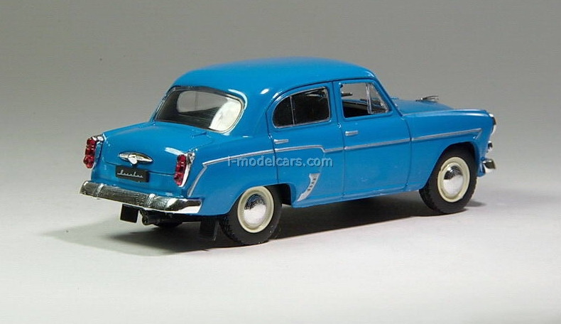 Moskvich-407 bright blue 1:43 DeAgostini Auto Legends USSR #1