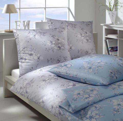 Элитная наволочка Fleurie синяя от Elegante