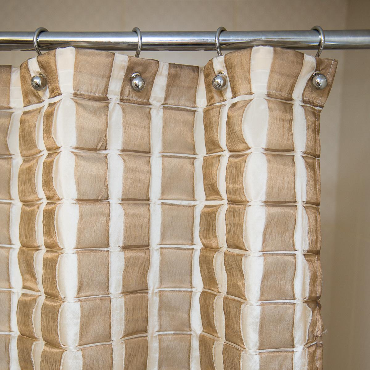 Элитная шторка для ванной 180х200 Reno Beige от Arti-Deco