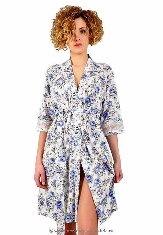 Цветочный женский халат Tata (Женские халаты)