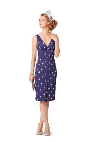 Выкройка Burda (Бурда) 7059 — Платье с вырезом лодочкой