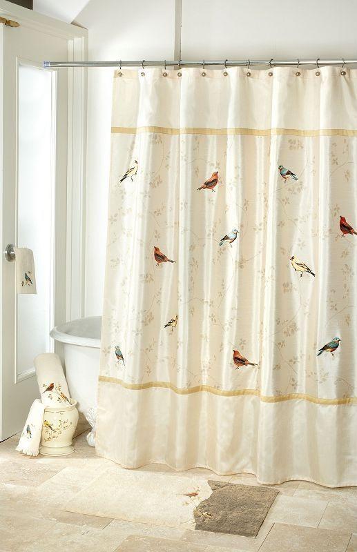Шторки Шторка для ванной 183x183 Avanti Gilded Birds elitnaya-shtorka-dlya-vannoy-gilded-birds-ot-avanti-ssha-kitay.jpg