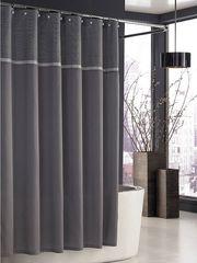 Элитная шторка для ванной Parc East Grid Grey от Kassatex