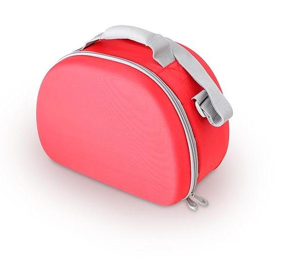 Сумка-холодильник (термосумка) для косметики с жесткими вставками EVA Mold Kit Red, 6L