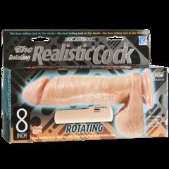 Реалистичный вибратор на присоске Realistic Cock с вращением ROTATING SQUIRMY - 8'' (20,32х5 см)