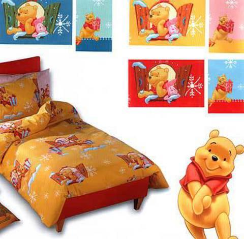 Детское постельное белье Сaleffi Pooh Balocchi голубое