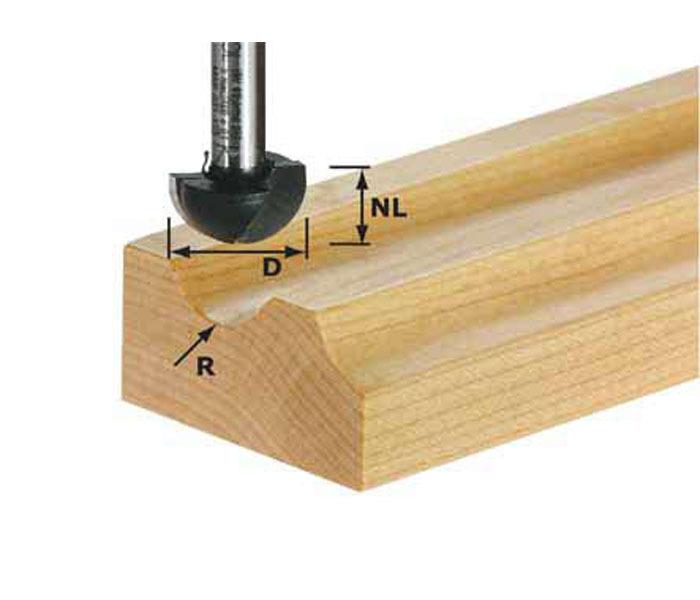 Фреза для изготовления желобка HW S8 R6,35 Festool 490984