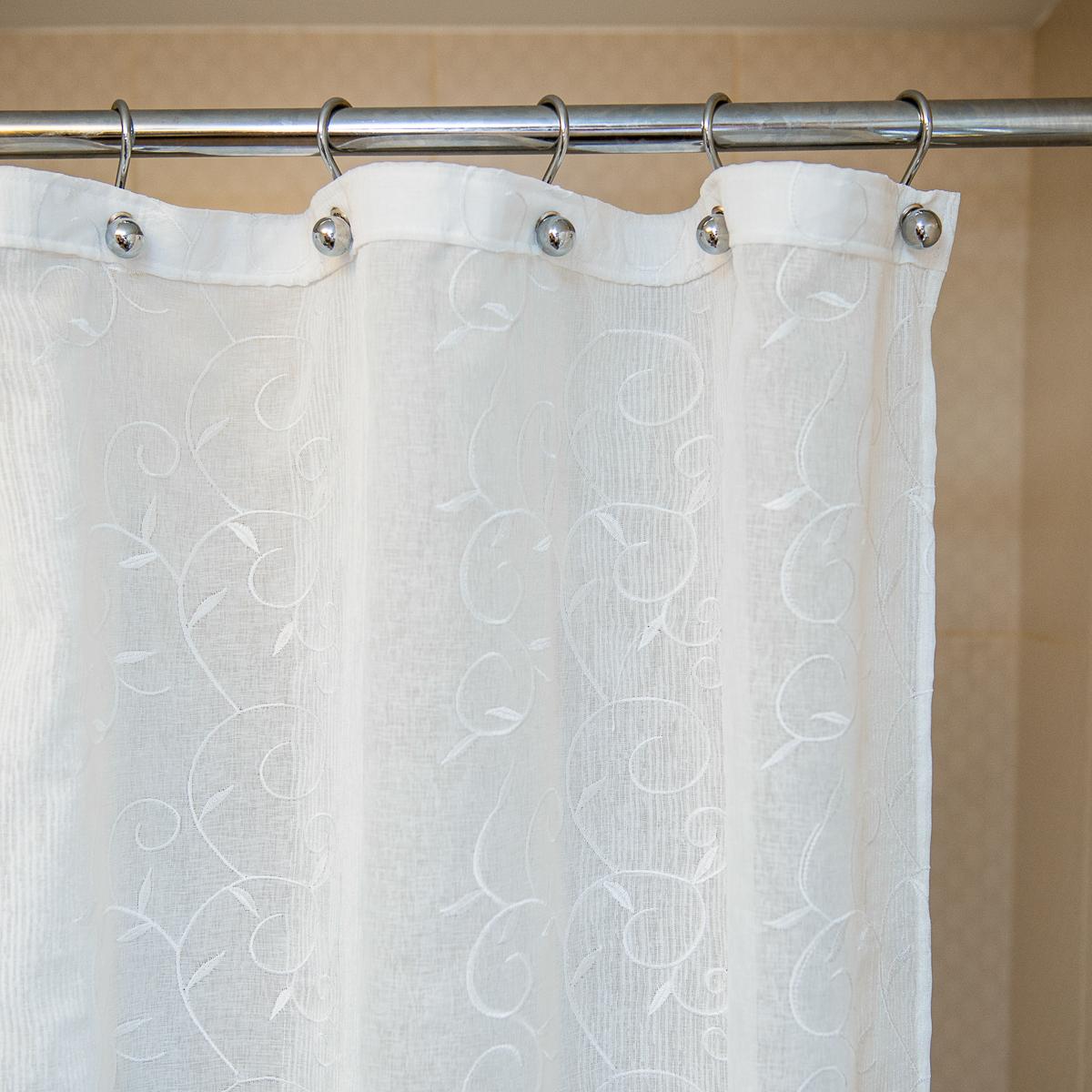 Элитная шторка для ванной 200х240 Bordado Flor от Arti-Deco