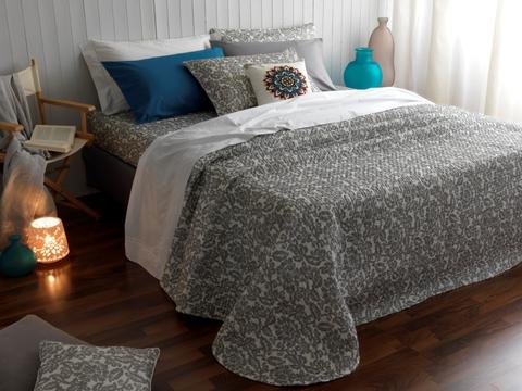 Постельное белье 2 спальное евро Casa Anversa Batic серое