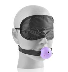 Набор Bedroom Lover's: маска, кляп, щекоталка, плетка и кубики желаний