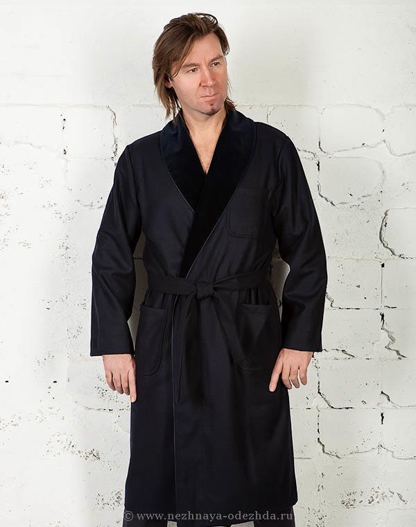 Мужской домашний халат из шерсти B&B (Мужские халаты)